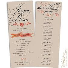 wedding program wedding programs 4 25 x 11 driftwood artision