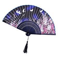 japanese folding fan generic silk butterfly pattern fan japanese folding
