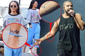 drake and rihanna get matching shark tattoos with u0027special