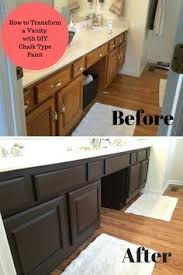 Chalk Paint Bathroom Cabinets Painting Oak Bathroom Vanity With Annie Sloan Chalk Paint Oak