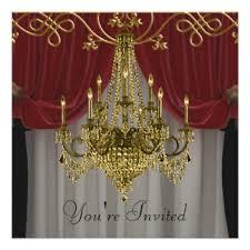 chandelier christmas party invitations u0026 announcements zazzle