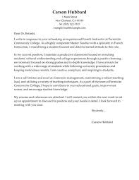sample cover letter for teaching position in community college