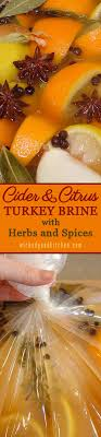 cider citrus turkey brine with herbs and spices recipe