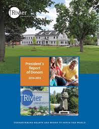 president u0027s report of donors 2014 2015 by rivier university issuu