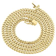 gold solid necklace images 14k yellow gold solid miami cuban link chain 4mm box clasp jpg