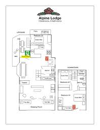 Ski Lodge Floor Plans by Cabin Layout Lake Arrowhead Lodging Pine Rose Cabins