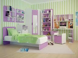 Wall Cabinets For Bedroom Storage Bedroom Green Blanket Pillow Purple Bed Bookshelf Mirror Armoire