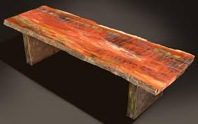 Petrified Wood Bench D C Table 65x23 Petrified Wood Furniture Russell Zuhl