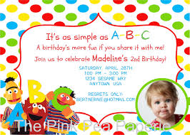 free printable sesame street photo birthday invitations drevio