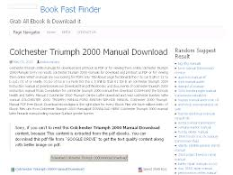 40 colchester triumph 2000 manual download