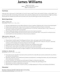 Sample Resume For Accountant by Sample Resume For Accounting Resume For Your Job Application