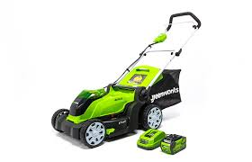 amazon com greenworks 17 inch 40v cordless lawn mower 4 0 ah