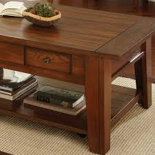 Oak Sofa Table by Steve Silver Desoto 4 Piece Coffee Table Set W Casters In Dark