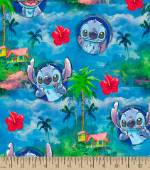 disney lilo u0026 stitch print fabric stitch u0027s hawaiin nights joann