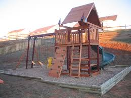 backyard landscape with kids playground feat small diy kids