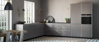tinta grey cool calm grey kitchen here shown with concrete look