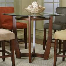 Glass Top Pedestal Dining Tables Amazing Dining Room 30 X 60 Glass Top Table Inch Round Pedestal