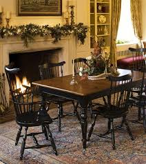 Best Windsor Dining Chairs Images On Pinterest Amish - Amish dining room table