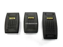 cost of alum momo style alum carbon fiber look non slip pedal brake pad cover