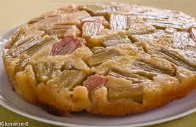 recettes de cuisines faciles et rapides gâteau à la rhubarbe version tatin kilometre 0 fr