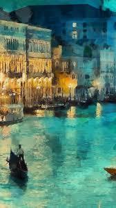 Classic Paint Nice Art Classic Painting Water Lake Night Iphone6 Plus Wallpaper