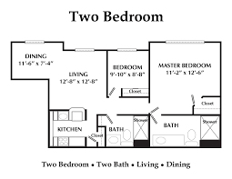 2 bedroom 2 bath apartment floor plans house plans
