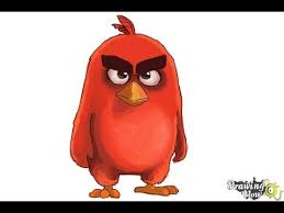 draw red angry birds movie