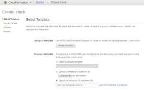 using the cloudformation template to manually deploy