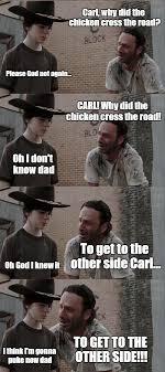 Walking Dead Rick Crying Meme - rick and carl long latest memes imgflip