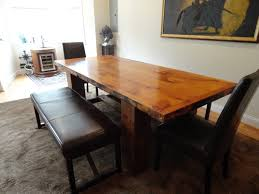 rustic dining room table with bench kitchen table extraordinary modern kitchen table sets black