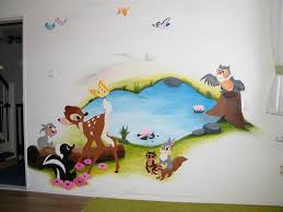 disney whole wall stick on wall mural google search first disney bambi mural so cute