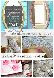How To Shabby Chic Paint by Mirror Makeover With Plaster Of Paris Candy Molds And Chalk Type