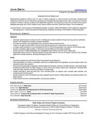 cover letter resume sample administrative assistant cover letter