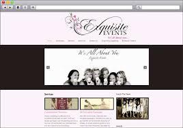 wedding planner packages wedding planner website re design exquisite events