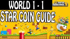 new super mario bros 2 star coin guide world 1 1 youtube