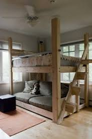 Loft Bunk Beds For Adults Rustic Loft Bed With Stairs With Bookshelf At The Bottom