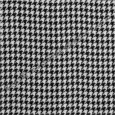 Black Drapery Fabric Gentlemen Houndstooth Check Curtain Drapery Panels