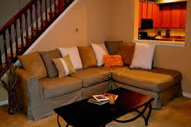 How To Make A Slipcover For A Sleeper Sofa Diy Sectional Slipcover Not Exact But Tips At