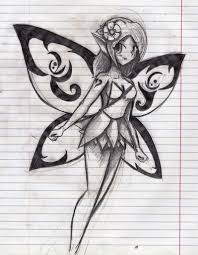pencil sketches of fairies and angels native female drawings