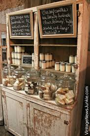 chippy display case with handmade soaps shop ideas pinterest