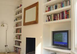 Bench Joiner Jobs London Tv Cabinet And 18 Floating Alcove Shelves Carpentry U0026 Joinery