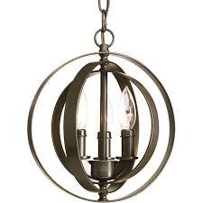 Orb Ceiling Light Shop Progress Lighting Equinox 10 125 In Antique Bronze Single Orb