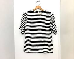 black and white striped blouse black and white striped shirt etsy