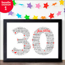 anniversary present 30th wedding anniversary gifts 30 personalised anniversary
