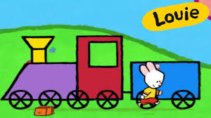 cartoon for kids louie draw me a train hd learn to draw youtube