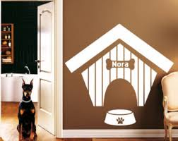 Dog House Interior Dog House Wall Decal Etsy