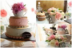100 kitchen tea cake ideas pink orange 3 tiered round cake