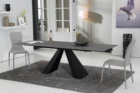Concrete Dining Room Table Modrest Grant Contemporary Concrete Glass Extendable Dining Table