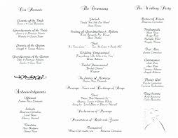 wedding programs exle a wedding program exle wedding ideas 2018