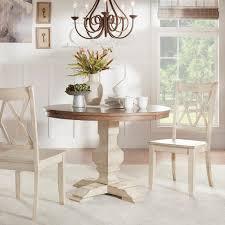 homesullivan sawyer 3 piece antique white mission x dining set